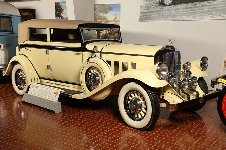 Pierce-Arrow vehicle at museum
