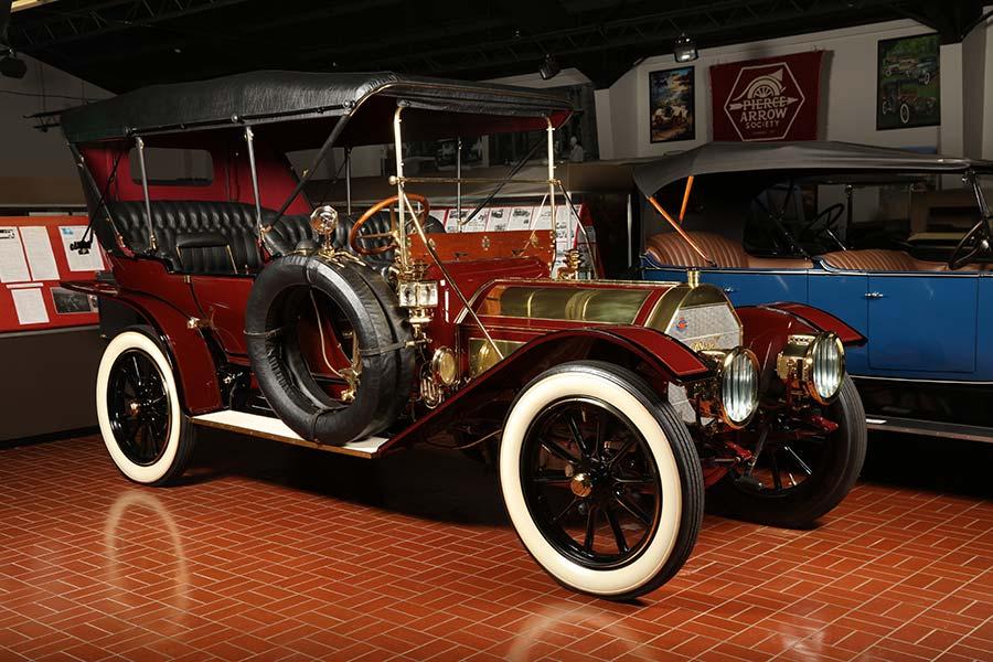 Pierce-Arrow vehicle at museum
