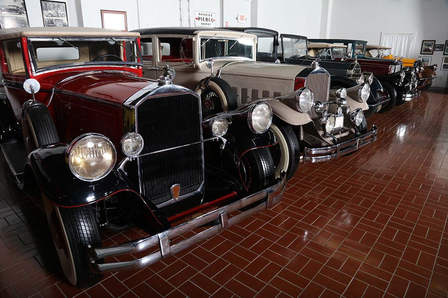 Automobiles at the Pierce-Arrow Museum in Hickory Corners, Michigan