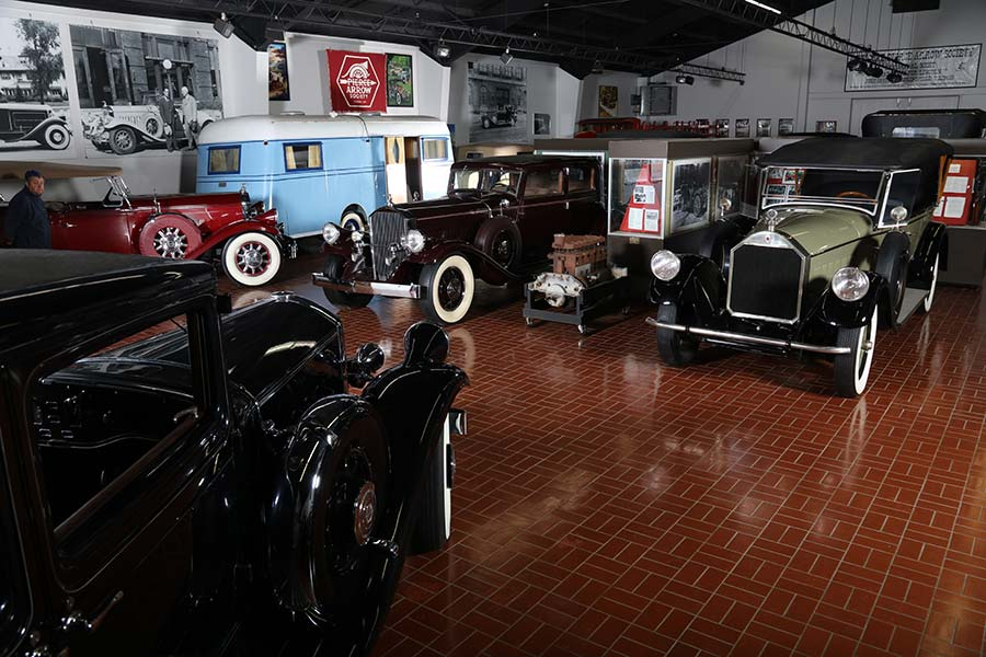 Automobiles and vehicles at Pierce-Arrow Museum